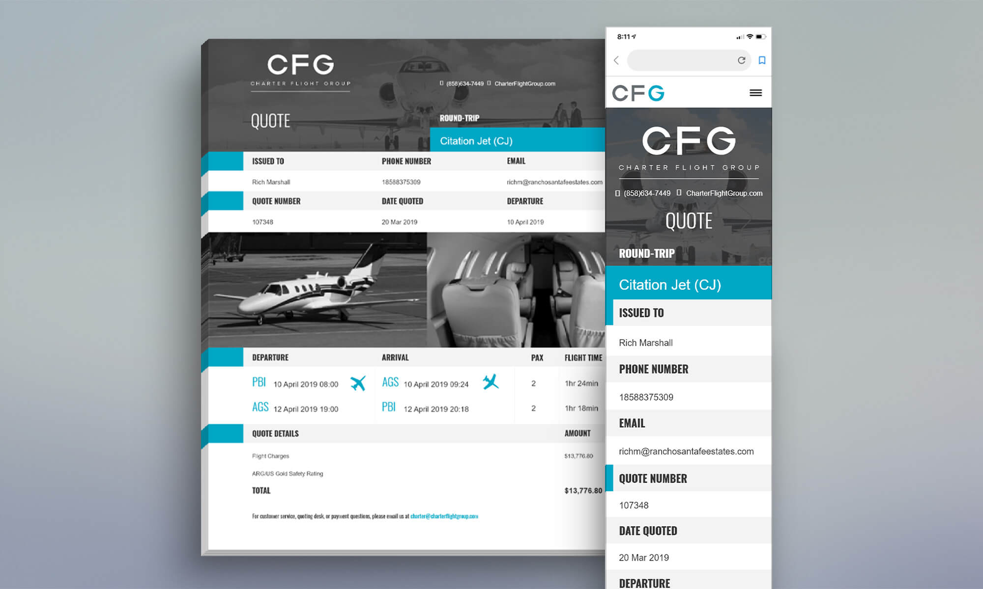Airline Quote Form